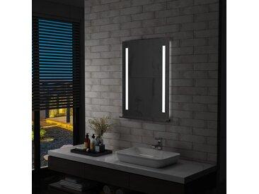 Miroir mural à LED pour salle de bains avec étagère 60x80 cm - vidaXL