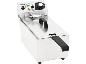 Friteuse électrique Acier inoxydable 6 L 2000 W - vidaXL