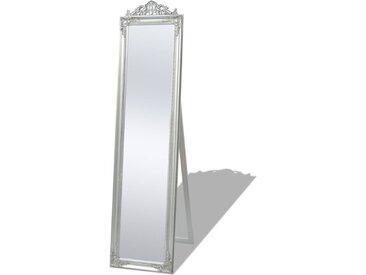 Miroir sur pied Style baroque 160 x 40 cm Argenté - vidaXL