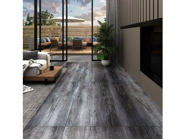 Planches de plancher PVC 4,46 m² 3 mm Autoadhésif Gris brillant - vidaXL