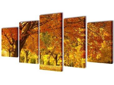 Set de toiles murales imprimées Érable 200 x 100 cm - vidaXL