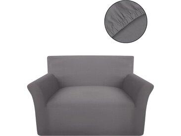 housse de canapé en coton jersey extensible gris - vidaXL