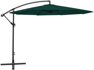 Parasol en porte-à-faux 3,5 m Vert - vidaXL
