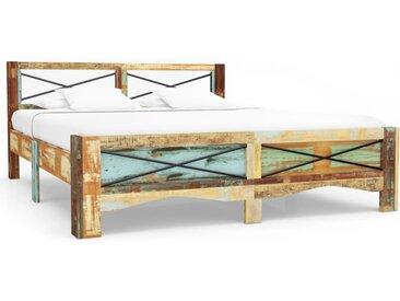 Cadre de lit Bois de récupération massif 160 x 200 cm - vidaXL
