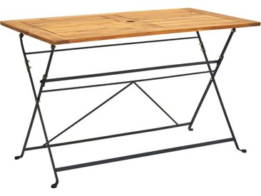Table pliable de jardin 120x70x74 cm Bois d'acacia massif - vidaXL