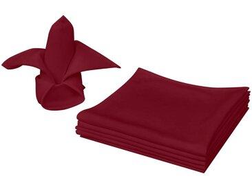 Serviettes de table 100 pcs Bordeaux 50 x 50 cm - vidaXL