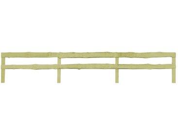 Clôture de jardin à 2 rails Pin imprégné 90 x 510 cm - vidaXL