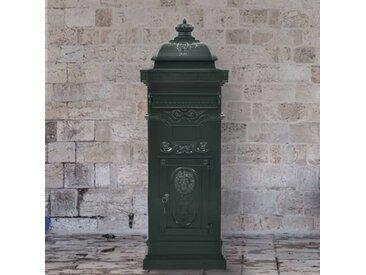 Boîte aux lettres à pilier Aluminium Vintage antirouille Vert - vidaXL