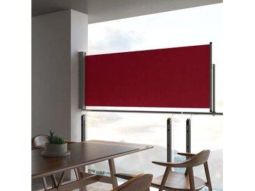 Auvent latéral rétractable de patio 100x300 cm Rouge - vidaXL