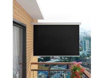 Auvent latéral de balcon multifonctionnel 180 x 200 cm Noir - vidaXL