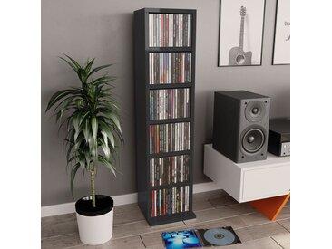 Armoire à CD Noir brillant 21x20x88 cm Aggloméré - vidaXL