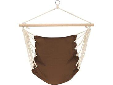 Hamac chaise 100 x 80 cm CHOCOLAT - vidaXL