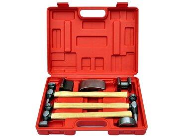 Kit de marteaux de carrosserie de voiture et de bosses 7 pcs - vidaXL