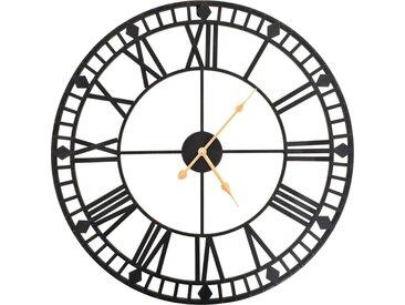 Horloge murale vintage avec mouvement à quartz Métal 60 cm XXL - vidaXL
