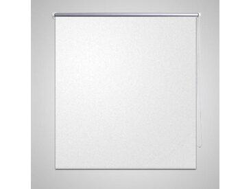 Store enrouleur occultant 120 x 175 cm blanc - vidaXL