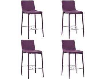 Chaises de bar 4 pcs Violet Similicuir - vidaXL