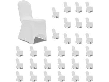 Housses élastiques de chaise Blanc 30 pcs - vidaXL