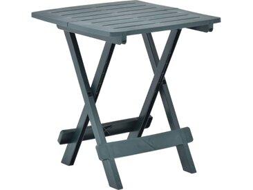 Table pliable de jardin Vert 45x43x50 cm Plastique  - vidaXL