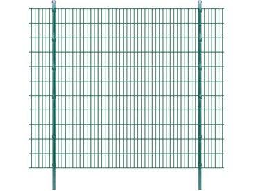 Panneaux et poteaux de clôture 2D pour jardin 2008x2230 mm 16 m - vidaXL