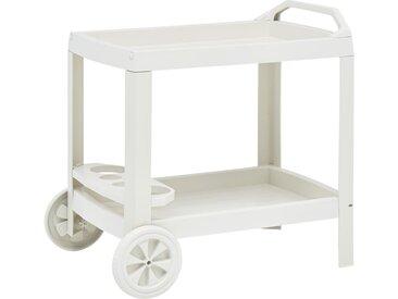 Chariot à boissons Blanc 69x53x72 cm Plastique - vidaXL