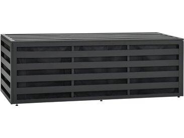 Boîte de rangement de jardin Aluminium 150x50x50 cm Anthracite - vidaXL
