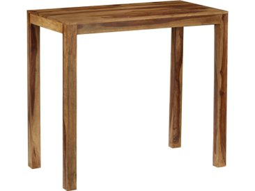 Table de bar Bois de Sesham massif 118 x 60 x 107 cm - vidaXL
