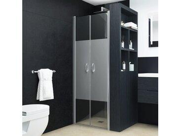 Portes de cabine de douche ESG demi-dépoli 75x185 cm - vidaXL
