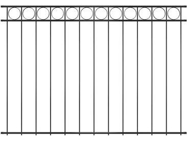 Panneau de clôture Acier 1,96x1,5 m Noir - vidaXL