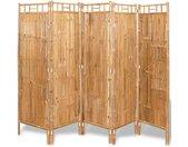 Cloison de séparation 5 panneaux Bambou 200 x 160 cm - vidaXL