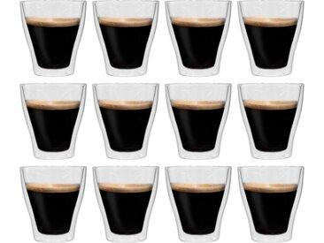 Verres à latte macchiato double paroi 12 pcs 280 ml - vidaXL