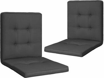 Coussins de chaise de jardin 2 pcs Anthracite 100x50x5 cm - vidaXL