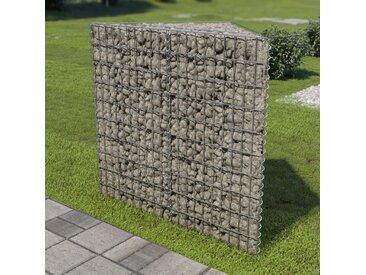 Lit surélevé à gabion Acier galvanisé 75x75x100 cm - vidaXL