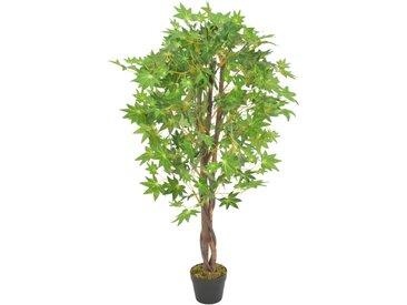 Plante artificielle d'érable avec pot Vert 120 cm - vidaXL