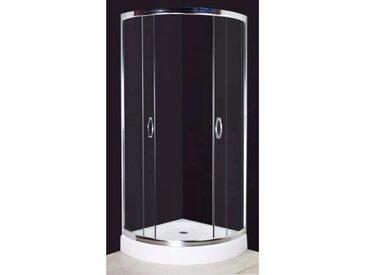 Cabine de douche 80 x 80 cm Courbée - vidaXL