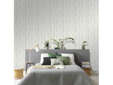 Rouleaux de papier peint 2 pcs Blanc 0,53x10 m Vagues - vidaXL
