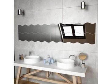Miroir mural 4 pcs 110 x 23 cm Ondulé Verre - vidaXL
