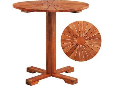 Table de bistro 70x70 cm Bois d'acacia massif - vidaXL