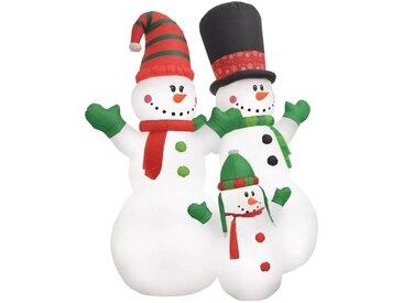 Bonhomme de neige gonflable Famille père noël LED IP44 240 cm  - vidaXL
