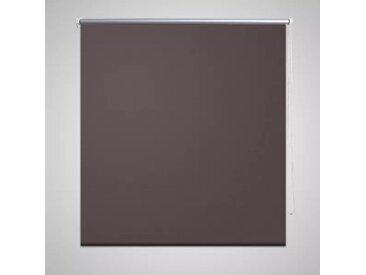 Store enrouleur occultant 120 x 230 cm marron - vidaXL