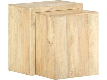 Tables gigognes 2 pcs Bois solide de manguier - vidaXL