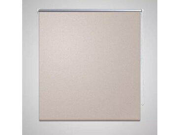 Store enrouleur occultant 140 x 175 cm beige - vidaXL