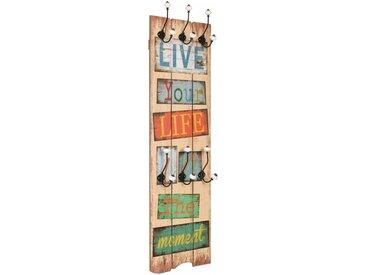 Porte-manteau mural avec 6 crochets 120 x 40 cm LIVE LIFE  - vidaXL