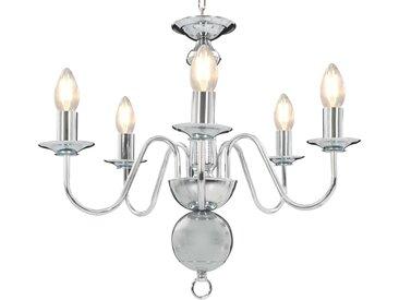Lustre Argenté 5 ampoules E14 - vidaXL