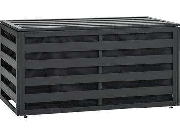 Boîte de rangement de jardin Aluminium 100x50x50 cm Anthracite - vidaXL