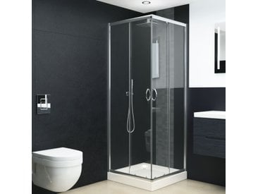 Cabine de douche Verre de sécurité 80x70x185 cm - vidaXL