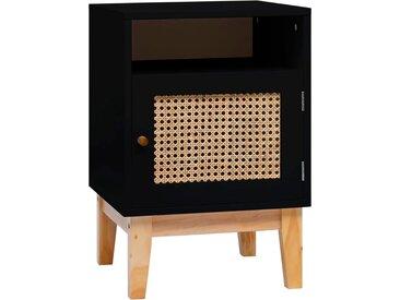 Table de chevet Noir 40x40x61 cm MDF - vidaXL