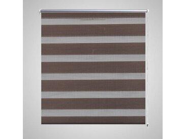 Store enrouleur tamisant 120 x 175 cm marron - vidaXL