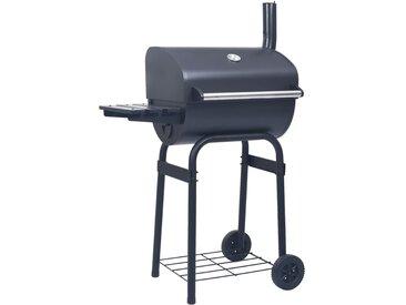 Gril barbecue au charbon avec étagère inférieure Noir - vidaXL