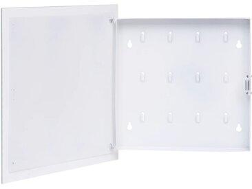 Boîte à clés avec panneau magnétique Blanc 35x35x5,5 cm - vidaXL