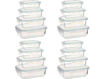 Récipients alimentaires en verre 16 pcs - vidaXL